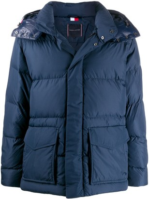 Tommy Hilfiger Logo Patch Padded Jacket