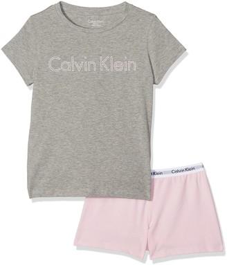 Calvin Klein Girls Modern Cotton Knit Pyjama Set