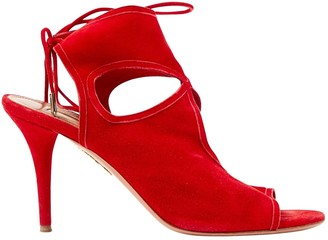 Aquazzura Sexy Thing Red Suede Heels
