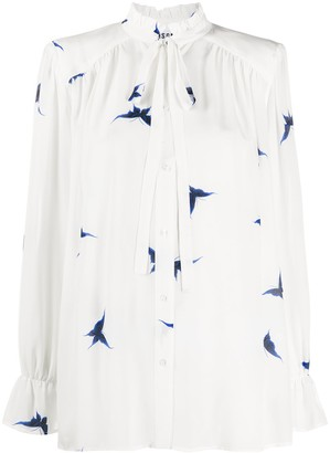 MSGM Butterfly-Print Blouse