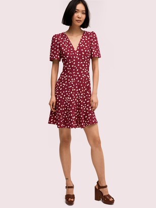 Kate Spade Mallow Dot Crepe Dress