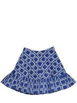 Caramel Baby And Child Square Printed Cotton Skirt