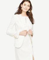 Ann Taylor Longline Linen Blend Blazer
