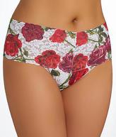 Hanky Panky Red Rose Thong Plus Size Panty - Women's