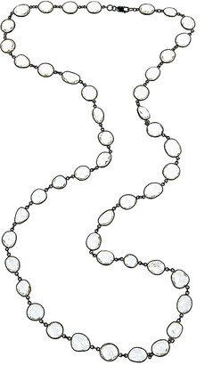 Forever Creations Usa Inc. Forever Creations Silver 120.00 Ct. Tw. Clear Quartz 36In Necklace