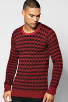 Boohoo Two Colour Knitted Sweater