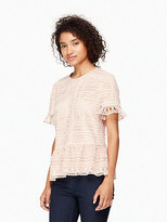 Kate Spade Mixed lace top