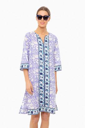 SZ Blockprints Padra Violet Long Kurta Dress