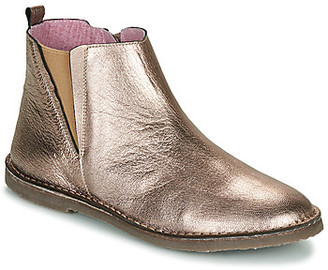Citrouille et Compagnie LIVOLA girls's Mid Boots in Silver