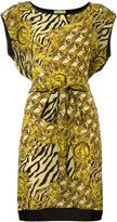 Versace printed belted dress - women - Silk/Viscose/Polyimide - 44