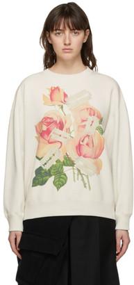 Undercover Off-White Rose and Razor Blade Sweatshirt