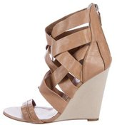 Studio Pollini Crossover Wedge Sandals