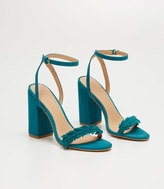 LOFT Leafed Block Heel Sandals