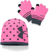 Under Armour Girls' UA Beanie & Glove Combo Pack