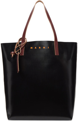 Marni Black and Blue PVC Shopping Tote