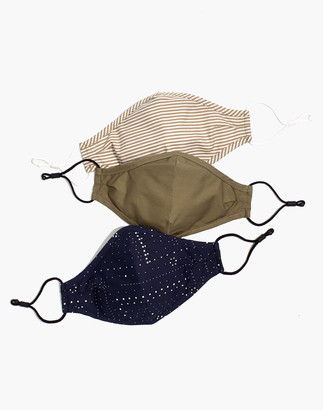 Madewell Three-Pack Assorted Adjustable Face Masks