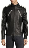 Versace Leather Racer Jacket
