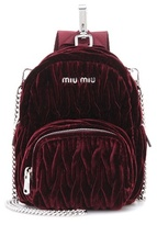 Miu Miu Matelassé Velvet Shoulder Bag