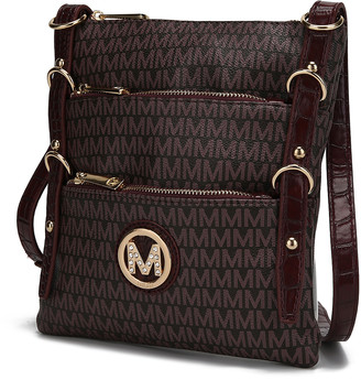 MKF Collection by Mia K. Women's Crossbodies Red - Red Venna Signature Crossbody Bag
