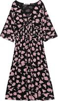 Diane von Furstenberg Nala Shirred Floral-print Stretch-mesh Midi Dress