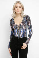 Free People Pick A Place Printed Bodysuit