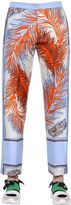 Emilio Pucci Feathers Printed Silk Twill Pants