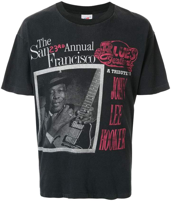Lee Fake Alpha Vintage John Hooker print T-shirt