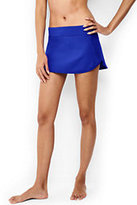 Lands' End Women's Dolphin Hem Mini SwimMini Swim Skirt-Electric Blue