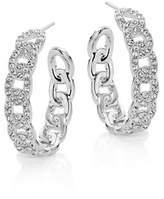 Nadri Pave Chain Link Hoop Earrings