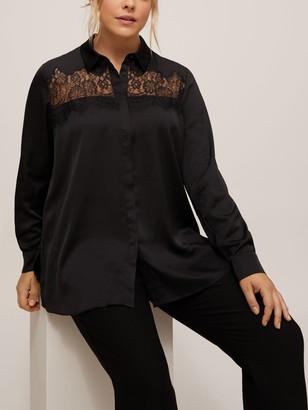 Persona by Marina Rinaldi Fama Lace Detail Shirt, Black