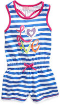 Kids Headquarters Kids Romper, Little Girls Striped Romper