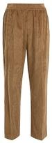 Brunello Cucinelli Side-stripe wide-leg corduroy trousers