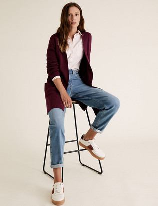 Marks and Spencer Soft Touch Knitted Longline Cardigan