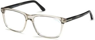 Tom Ford Square Acetate Optical Glasses, Gray