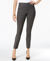 Charter Club Petite Cambridge Plaid Tummy-Control Pants, Created for Macy's