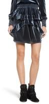 The Fifth Label Women's Exhibition Ruffle Velvet Skirt