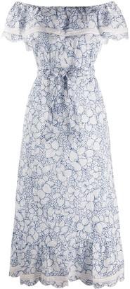 Marysia Swim Strapless Ruffle Maxi Dress