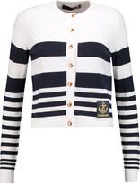 Love Moschino Striped fine-knit cardigan