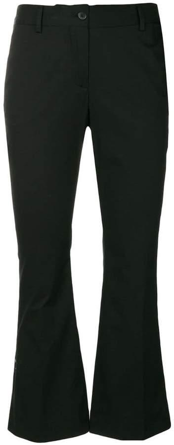 Alberto Biani cropped flare trousers