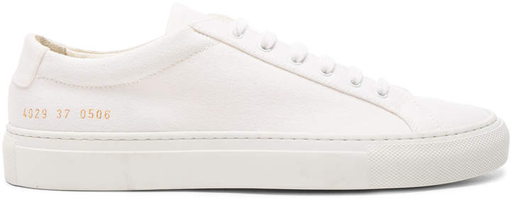 Common Projects Canvas Achilles Low in White | FWRD