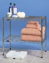 Intermetro Two Tier Wire Shelf Unit in Finish