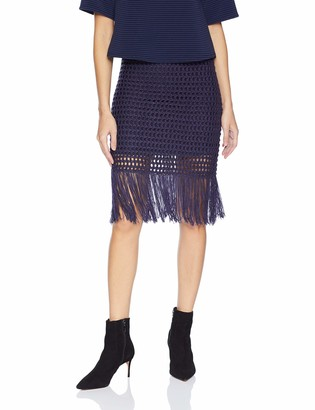 BCBGMAXAZRIA Women's Fringe Mini Skirt