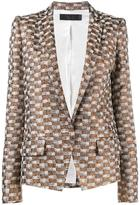 Haider Ackermann checked jacquard blazer - women - Cotton/Linen/Flax/Polyester/Rayon - 34