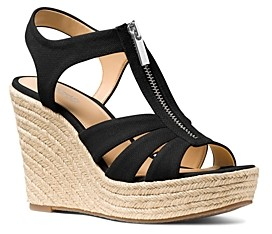 MICHAEL Michael Kors Women's Berkley Woven Espadrille Wedge Sandals