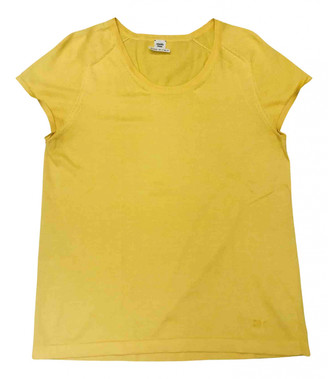 Hermes Yellow Cashmere Tops