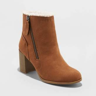 A New Day Women's Carmelo Microsuede Sherpa Lined Booties