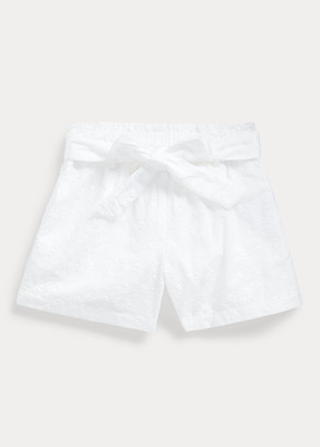 Ralph Lauren Eyelet Cotton Paperbag Short