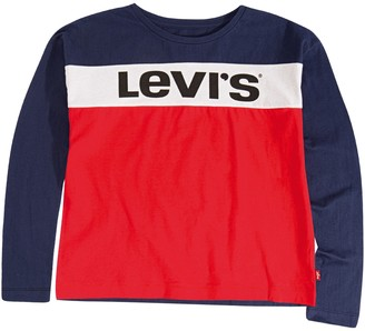 Levi's Cotton Long Sleeved T-shirt, 3-16 Years
