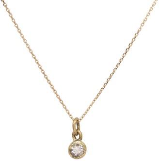 Lily Flo Jewellery Diamond Solitaire Necklace Bezel Set On Gold