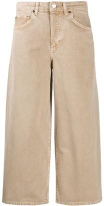 BA&SH Volt wide leg cropped jeans